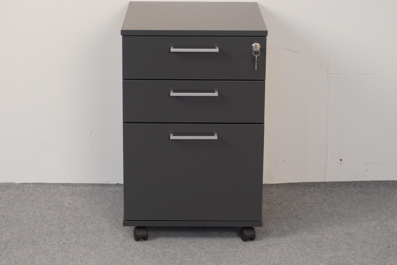 Skuffekabinet BCD med 3 skuffer, 1 med hængemappe - m/lås og centrallås