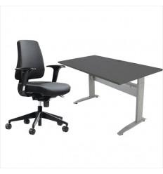 BCD 1800 - Kontorsæt med hæve sænkebord og kontorstol