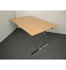 Kantine-konferencebord med krom klapstel bcd